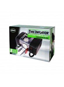 SLIME Tire Air Compressor with Raft Pump & Light