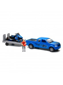New Ray Toys Pick Up Scale Model with Polaris Snowmobile