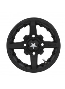 MSA WHEELS M23 Battle Matte Black Wheel 12x7 - 4/110 - 15 mm