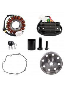 Kimpex HD Stator, Kokusan Flywheel,  Regulator, Gasket, Puller Recall Kit Fits Aprilia - 225751
