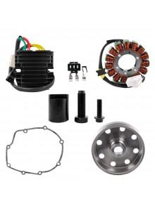 Kimpex HD Stator, Kokusan Flywheel, Mosfet Regulator, Gasket & Puller Recall Kit Fits Aprilia - 225752