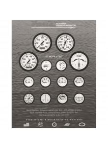 Faria Euro White Series Speedometer Boat - 706122