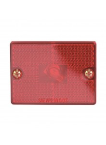 Optronics Square Reflector Marker Clearance Light Red