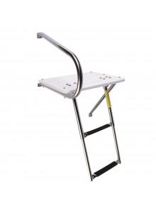 Garelick Swim Platform with Telescoping Ladder, under platform Telescopic - 2
