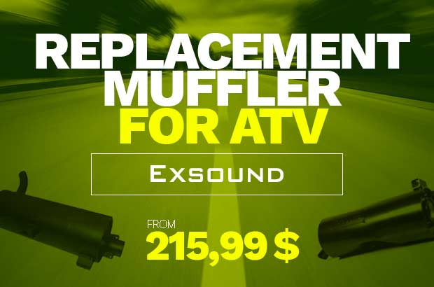 ATV replacement muffler