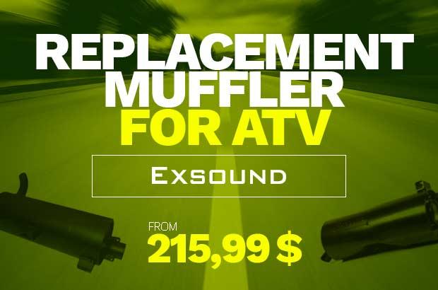 ATV replacement muffler